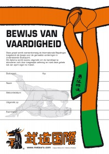 Diploma uitreiking Judo @ Budocentrum Winterswijk